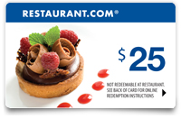 $25 Restaurant.com Gift Card